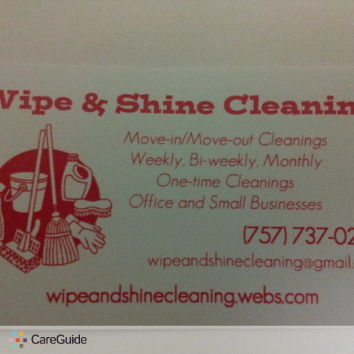 Housekeeper Provider Wipe Shine's Profile Picture