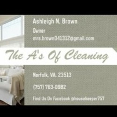 Housekeeper Provider Ashleigh Brown's Profile Picture