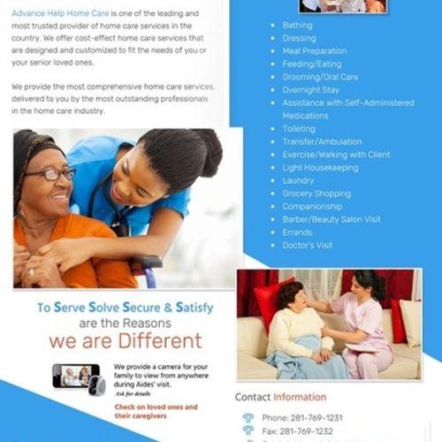 Elder Care Provider Advance Help Home Care H's Profile Picture