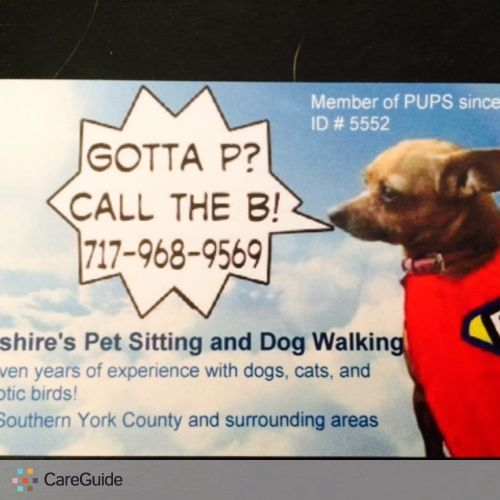 Pet Care Provider Joy Brookshire's Profile Picture