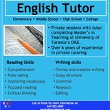 Tutor in Mississauga
