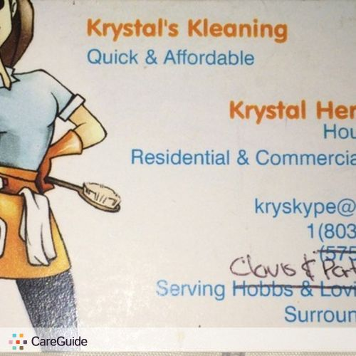 Housekeeper Provider Krystal H's Profile Picture