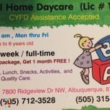Babysitter, Daycare Provider, Nanny in Albuquerque