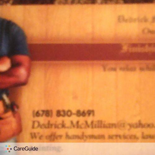Handyman Provider Dedrick Mcmillian's Profile Picture