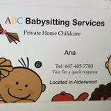 Babysitter in Etobicoke