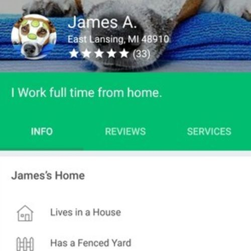 Pet Care Provider James Akers's Profile Picture