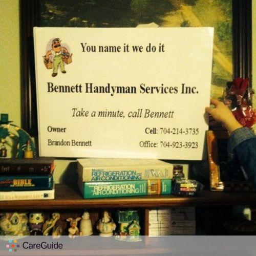 Handyman Provider Brandon Bennett's Profile Picture