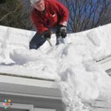 Snow and Ice Dam Removal Services,Top roof snow raking MA