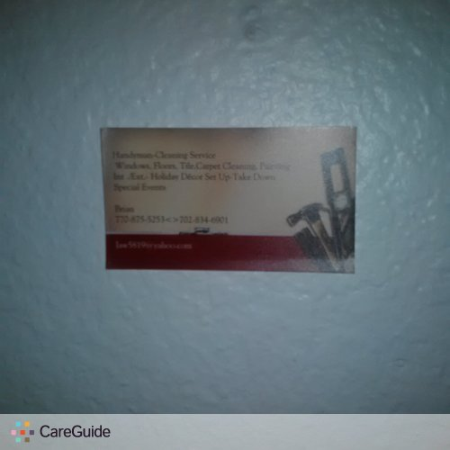 Handyman Provider Brian Eugene's Profile Picture
