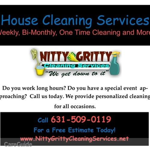 Housekeeper Provider Nitty Gritty Cleaning Services's Profile Picture