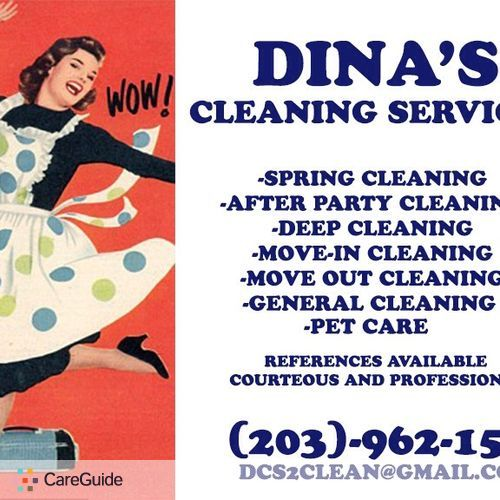 Housekeeper Provider Dina M's Profile Picture