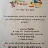 Daycare Provider in Santa Maria