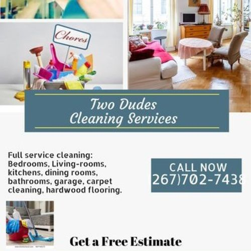Housekeeper Provider Two Dudes Cleaning Service's Profile Picture
