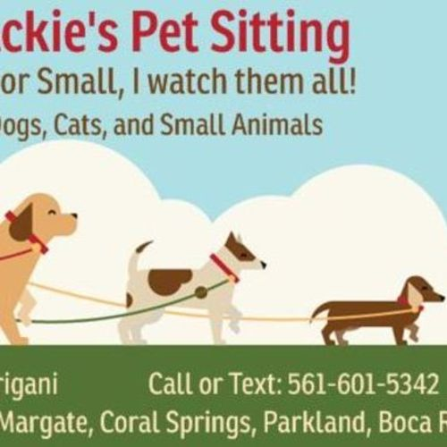 Pet Care Provider Jackie T's Profile Picture