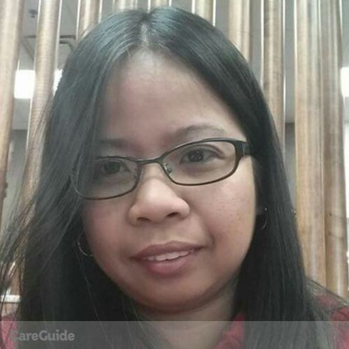 Canadian Nanny Provider Evangeline Domingo's Profile Picture