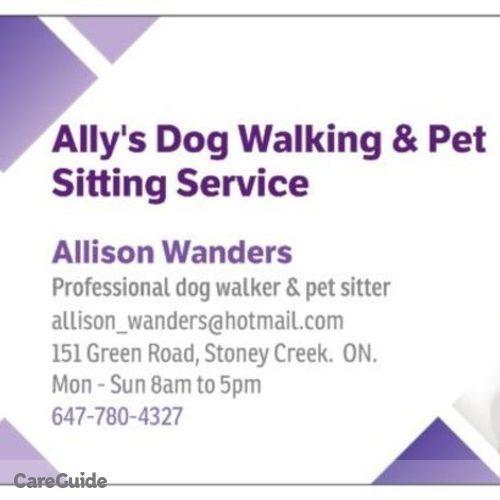 Pet Care Provider Allison Wanders's Profile Picture