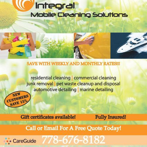 Housekeeper Provider Integral Mobile Cleaning Solutions's Profile Picture