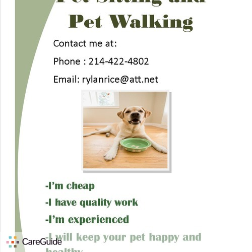 Pet Care Provider Rylan Rice's Profile Picture
