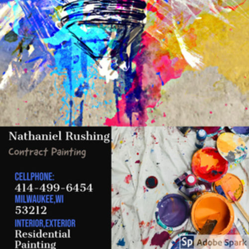My name is Nathaniel Rushing and Im a Contract Painter with my own business with over 20 years experience.