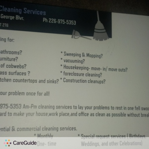 Housekeeper Provider Am - Pm Cleaning Services R's Profile Picture