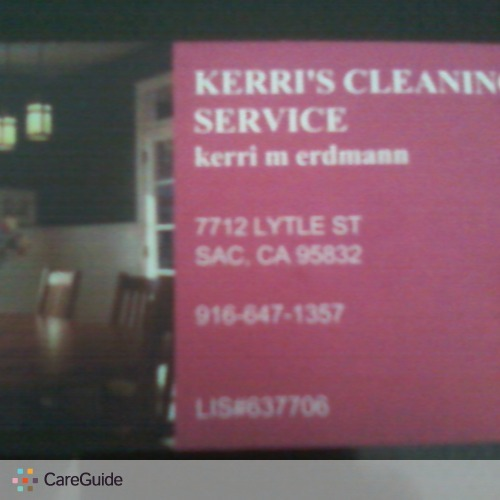 Housekeeper, House Sitter in Sacramento