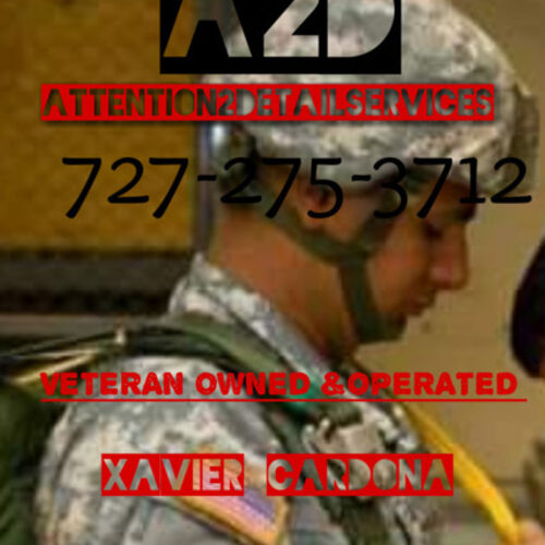 ATTENTION2DETAILServices Veteran owned and operated wants to take care of the details and provide quality cleaning services.