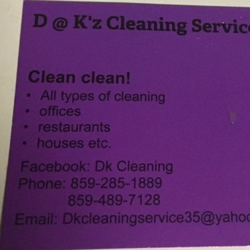 Housekeeper Provider D at Ks Cleaning service LLC Gallery Image 1