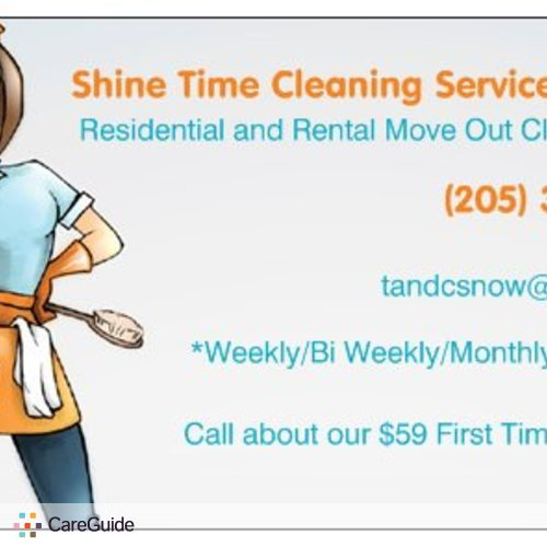 Housekeeper Provider Shine Time Cleaning's Profile Picture