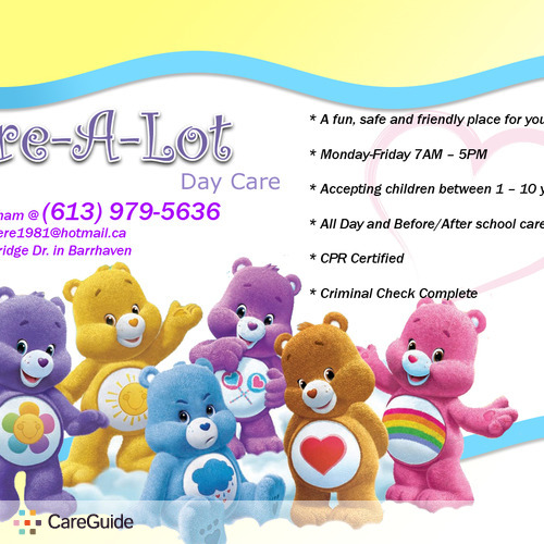 Daycare Provider in Nepean