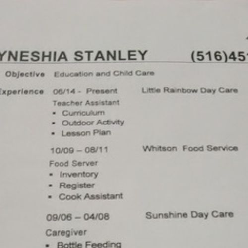 Housekeeper Provider Tyneshia Stanley's Profile Picture