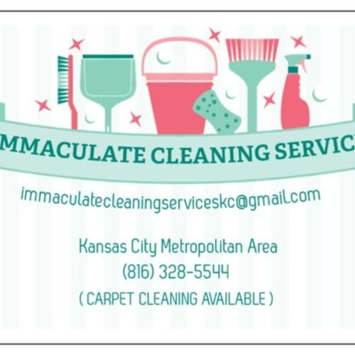 Housekeeper Provider Immaculate Cleaning Service's Profile Picture