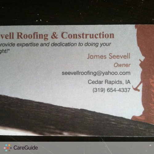 Roofer Provider James Seevell's Profile Picture