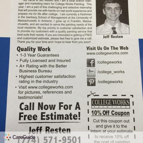 Painter Provider Jeff R's Profile Picture