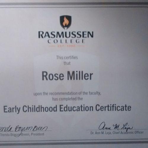 Child Care Provider Rose M's Profile Picture