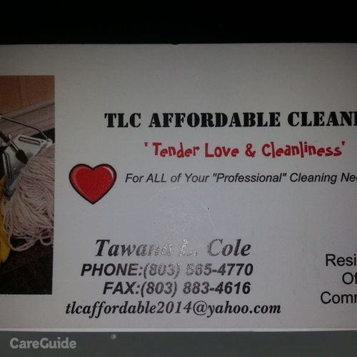 Housekeeper Provider Tawana C's Profile Picture