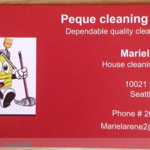 Housekeeper Provider Mariela Rene's Profile Picture