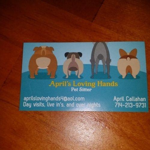 Pet Care Provider April C's Profile Picture