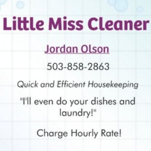 Housekeeper Provider Jordan Olson's Profile Picture