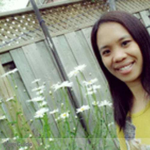 Canadian Nanny Provider Rhosel Rosagaran's Profile Picture