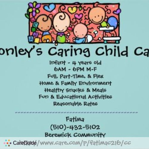 Child Care Provider Fatima Conley's Profile Picture