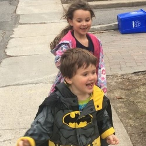 Chaotic but fun Westmount Family Looking for part-time help for two children and two dogs