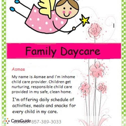 Child Care Provider Asmae E's Profile Picture