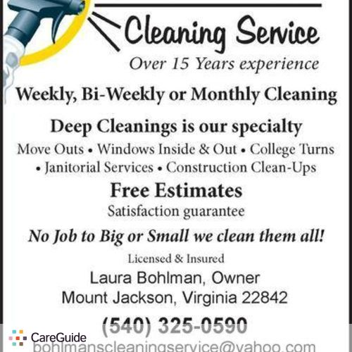Housekeeper Provider Laura Bohlman's Profile Picture