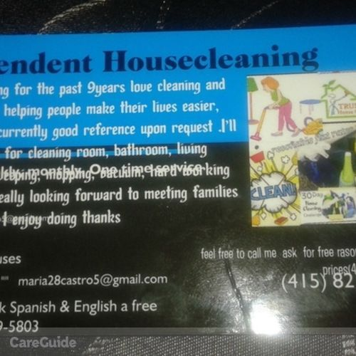 Housekeeper Provider Maria Castro's Profile Picture