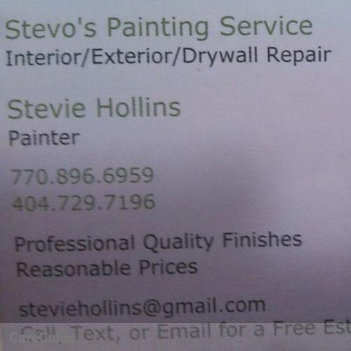 Painter Provider Stevie Hollins's Profile Picture