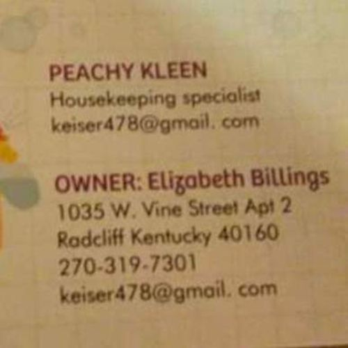 Housekeeper Provider Elizabeth Billings's Profile Picture