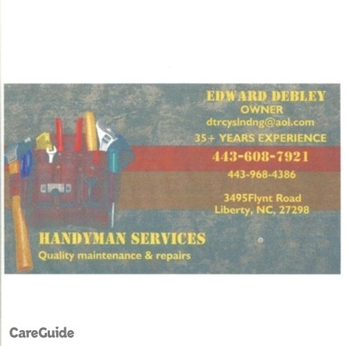 Handyman Provider Edward Debley's Profile Picture
