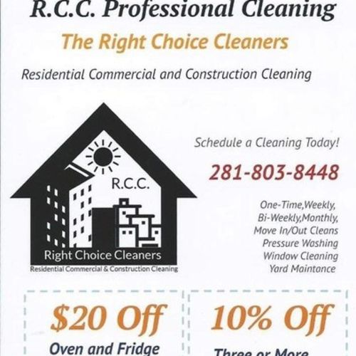 Housekeeper Provider R.C.C. Professional Cleaning's Profile Picture