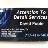 Attention to Detail Home Services Passionate and professional home repairs and remodeling services. No job too small.