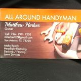 Hello My name is Matthew Herber, I am a All Around Handyman. I am offering great and reliable work at a great price!